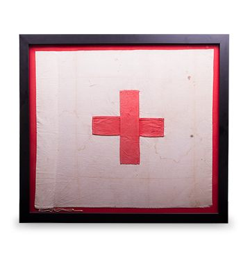 Ryerson Red Cross Flag flown during Battle of Batoche-FR