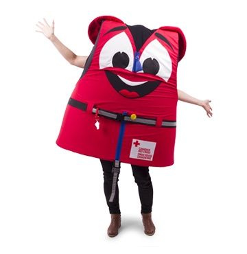 Buckles – Canadian Red Cross Water Safety Mascot-FR