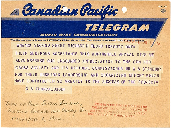 Canadian Hungarian Relief Fund Telegram-FR